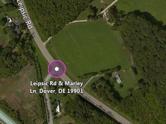 Human remains were found in the area east of Leipsic Road near Marley Lane.