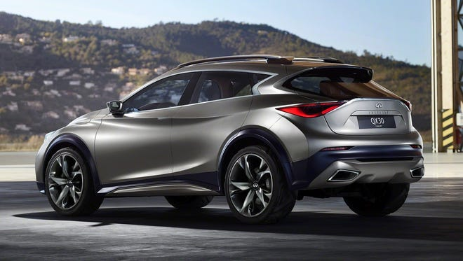 The QX30 concept is InfinitiÕs design vision for a new premium compact crossover, targeting at a new generation of individualistic premium customers.