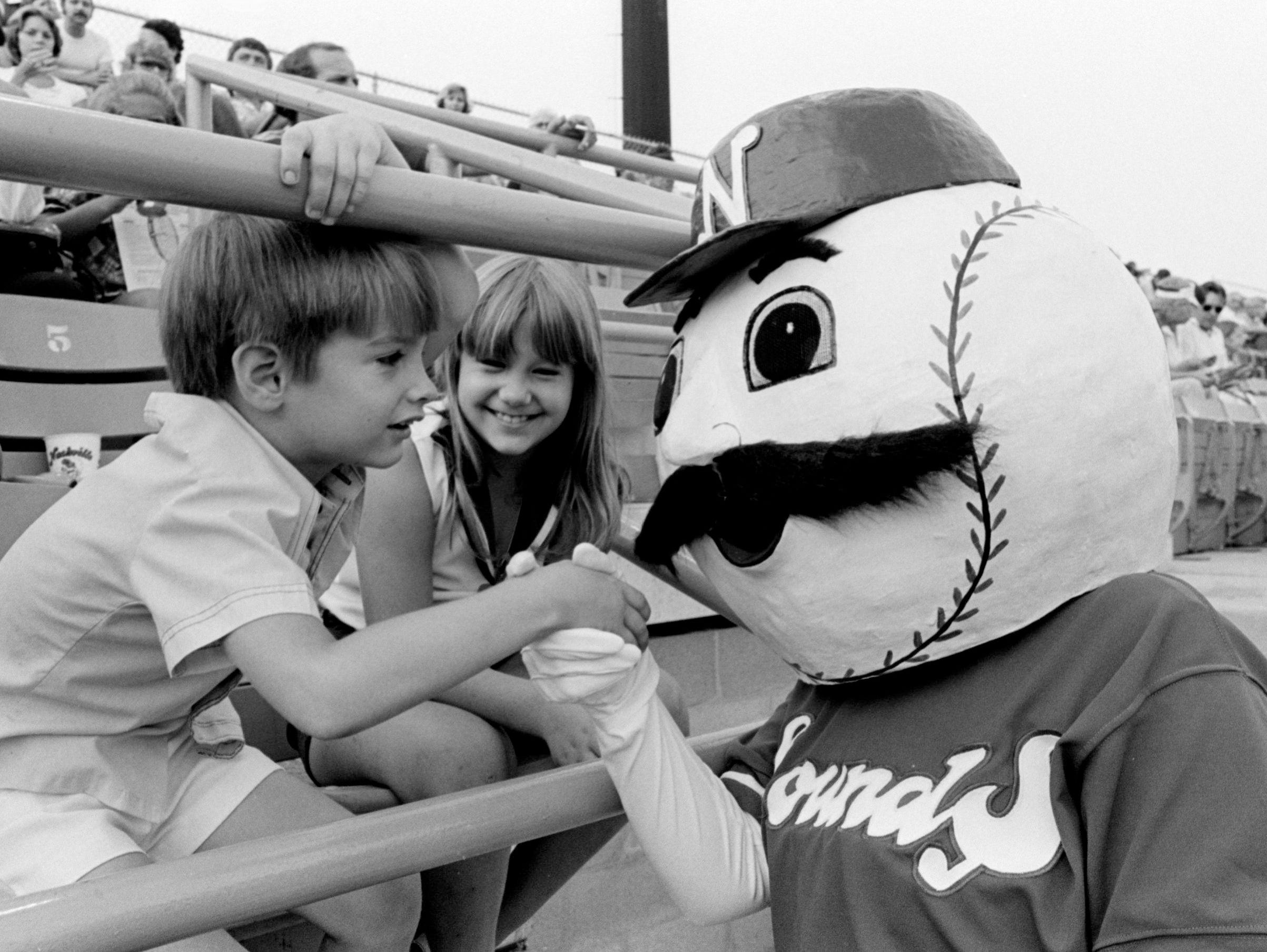 View historical photos of the Nashville Sounds mascots over the years since 1978.