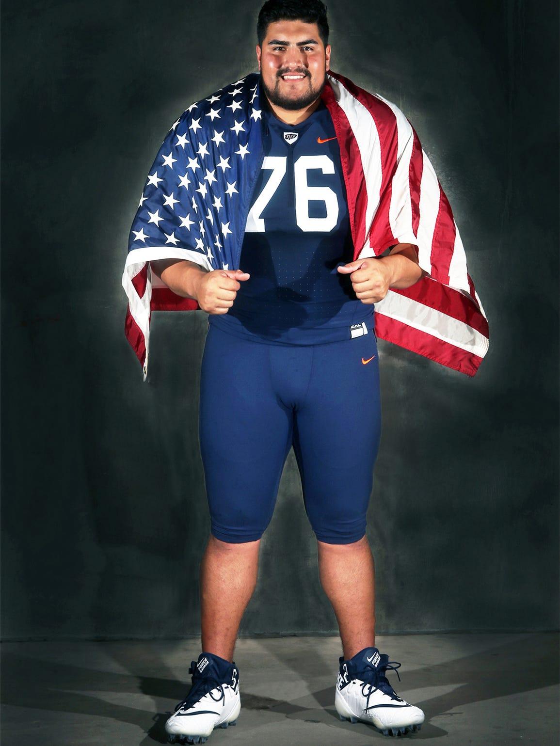 UTEP lineman Will Hernandez, an All-American Third