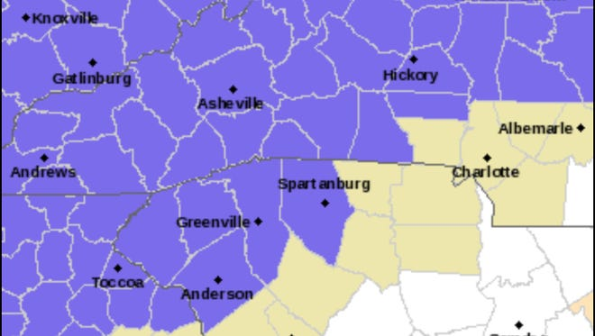 A Winter Weather Advisory was issued for Monday, Jan 8, 2018.