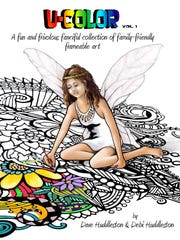 """U-COLOR"" is a new coloring book for adults authored and illustrated by Debra Huddleston of Silverton and her brother Dave Huddleston of Napa, Calif. Go to ""fancifulpreludes"" on Facebook for more information."