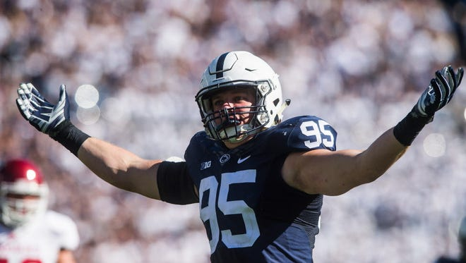 Former walk-on Carl Nassib earned Big Ten Defensive Player of the Year honors on Monday.