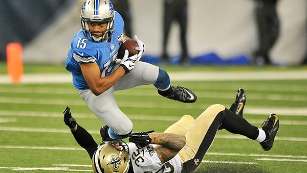 Lions receiver Golden Tate played running back in high school.