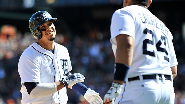 Victor Martinez hit .335 with 32 homers and 103 RBIs this season.