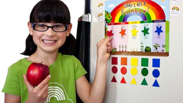 Use this handy chart from www.todayiatearainbow.com to help your children keep track of the nutritional foods they consume.