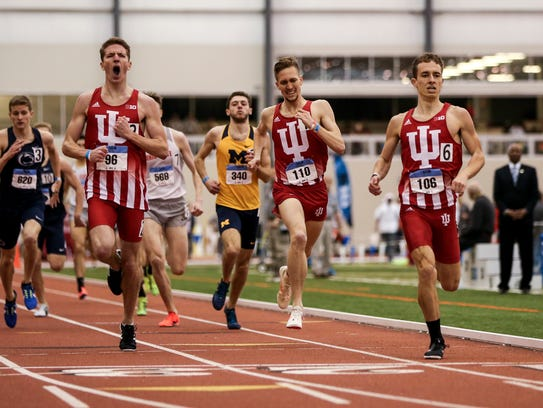 Teddy Browning, left, finished second as part of Indiana's