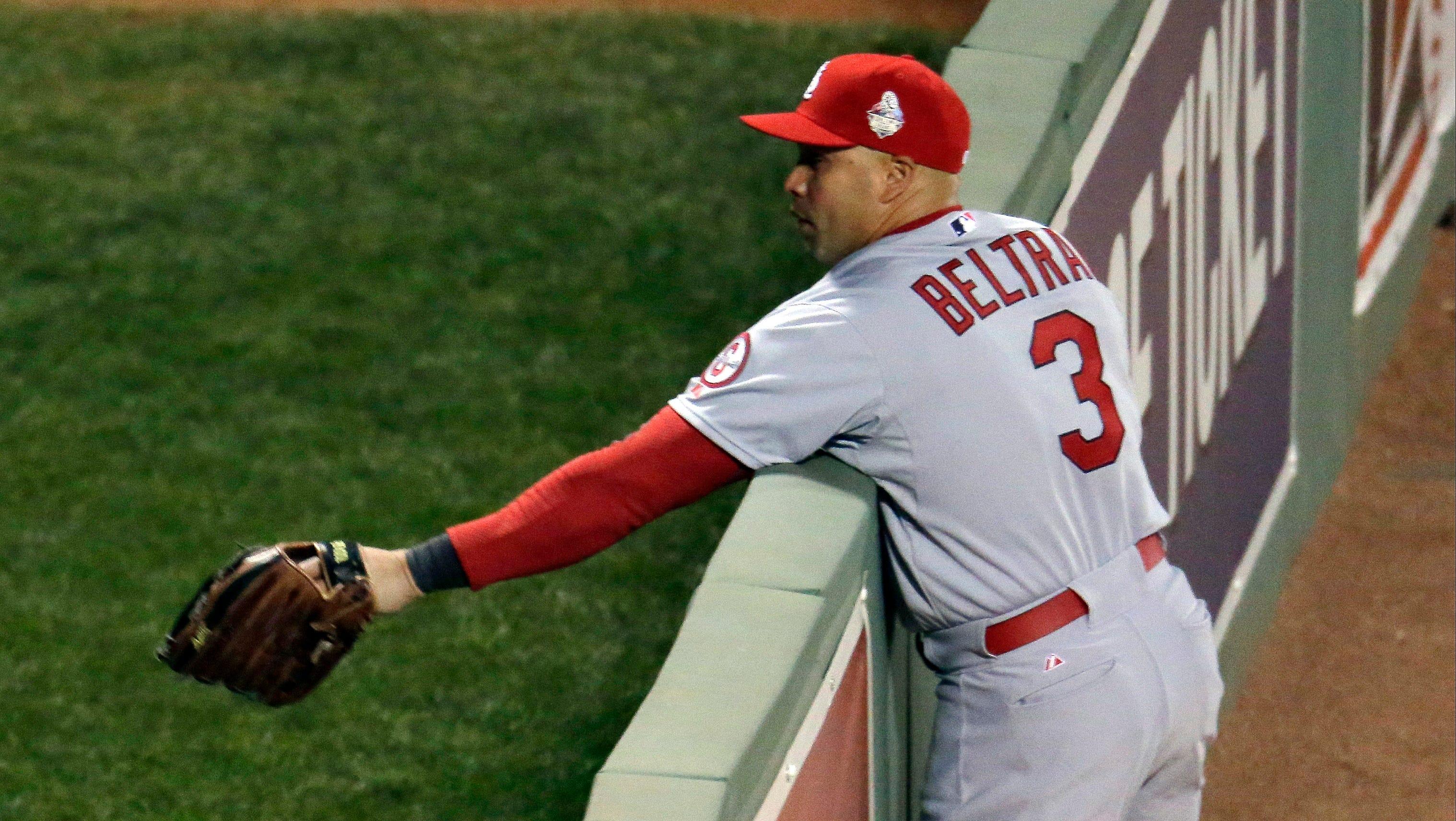 Beltran S World Series Debut Cut Short With Injury