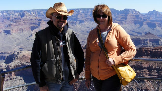 Garry Holub and Diane Cogswell pictured at the Grand Canyon, one of the last times Cogswell saw him. Holub died of heat-related causes in 2016.