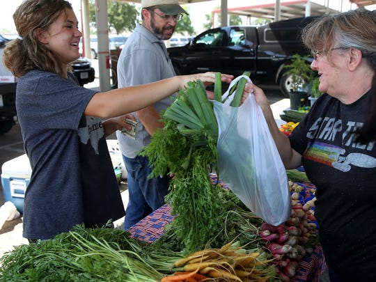 The Concho Valley Farmers Market continue its weekly produce sales from 7 a.m. to noon Tuesdays, Thursdays and Saturdays at the Farmers Market, 16 S. Oakes St.