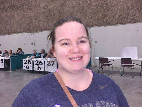 Meghan Hanning, 26, cast her ballot for Montana's special