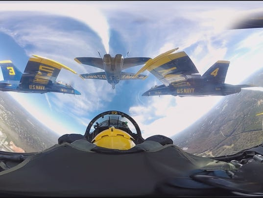 Blue Angels in 360-degree video