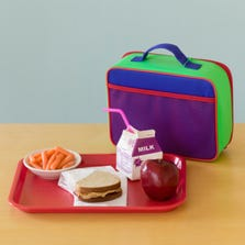 School lunch and lunchbox