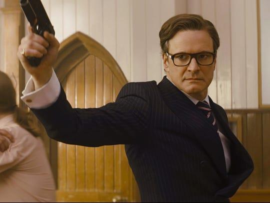 "Colin Firth is a secret agent in ""Kingsman: The Secret"