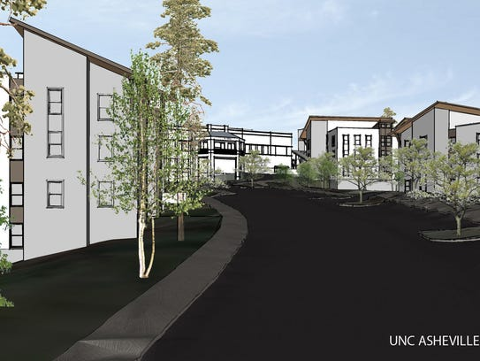 UNC Asheville student residences rendering provided