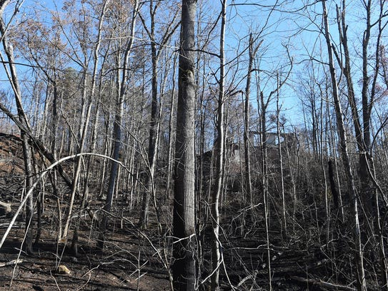 Properties damaged in the Cobbly Knob area after wildfires