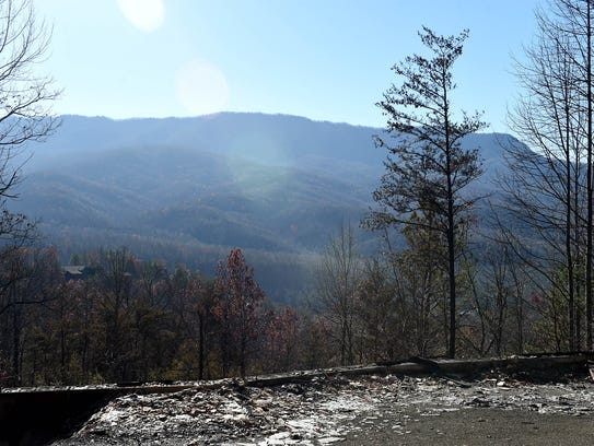 Property damaged in the Cobbly Knob area after wildfires