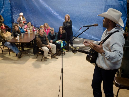 Coffey Anderson, a Country Music performer, performs
