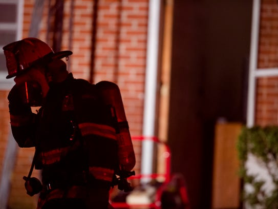 Montgomery Firefighters respond to a house fire at