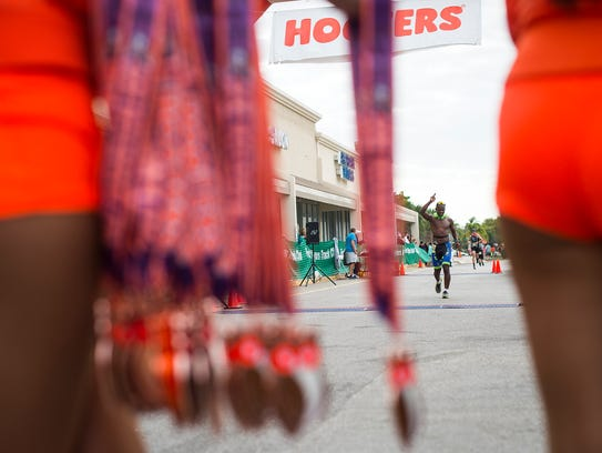 Scenes from the Hooters half marathon in Fort Myers,