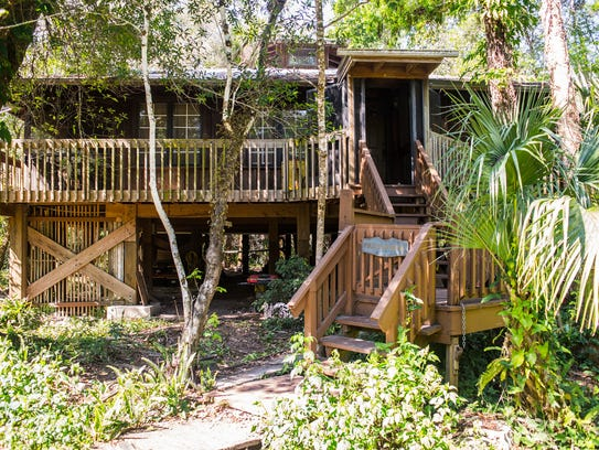 Bob Gore designed and built his stilt house in Golden Gate Estates, shown Sunday, Feb. 26, 2017. The well-respected conservationist died in February, leaving behind the house and a 200-acre preserve in an estate overseen by his brother, Paul Gore.