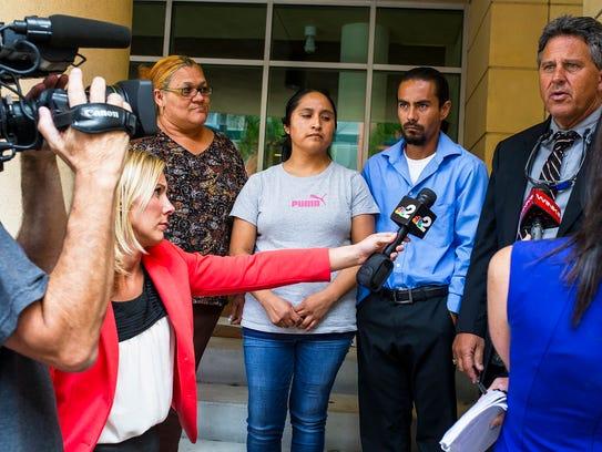 Reporters talk to Rita Hernandez's attorney, Thomas