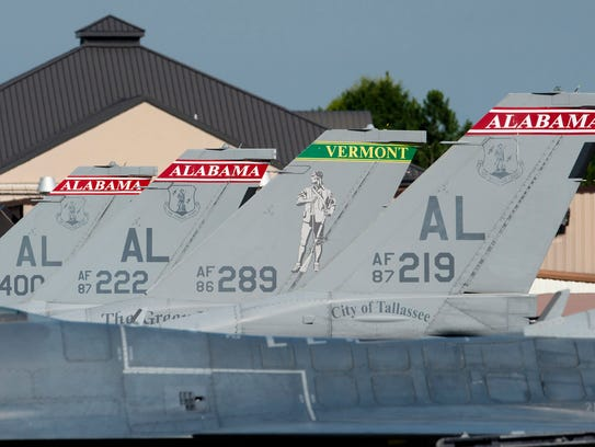 Alabama Air National Guard 187th Fighter Wing F-16's