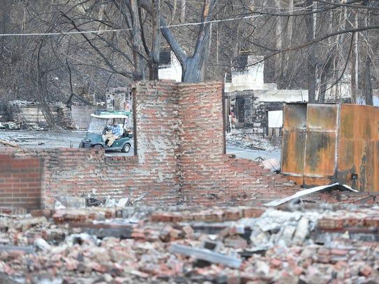 Destruction at the Baskins Creek Vacation Rentals in