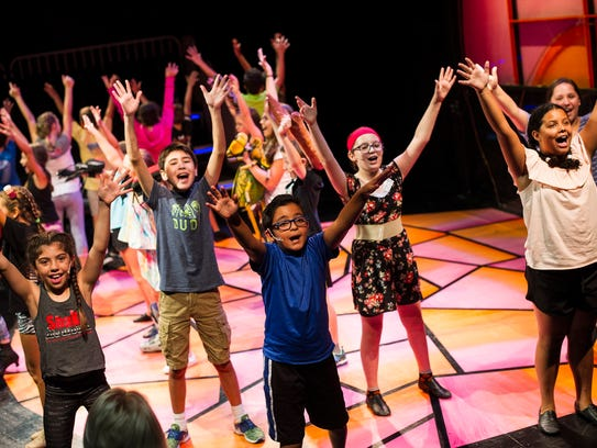 """Naples Kidz-Act rehearse scenes from """"James and the"""