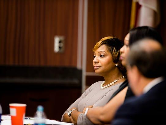 Angela McKenzie, ASU Board of Trustees member,  looks