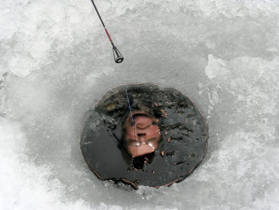 Jeff Lucas of Red Lion takes in some ice fishing at