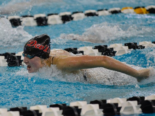 West Lafayette junior Maddie Sheiss repeated as the 100-yard butterfly sectional champion.