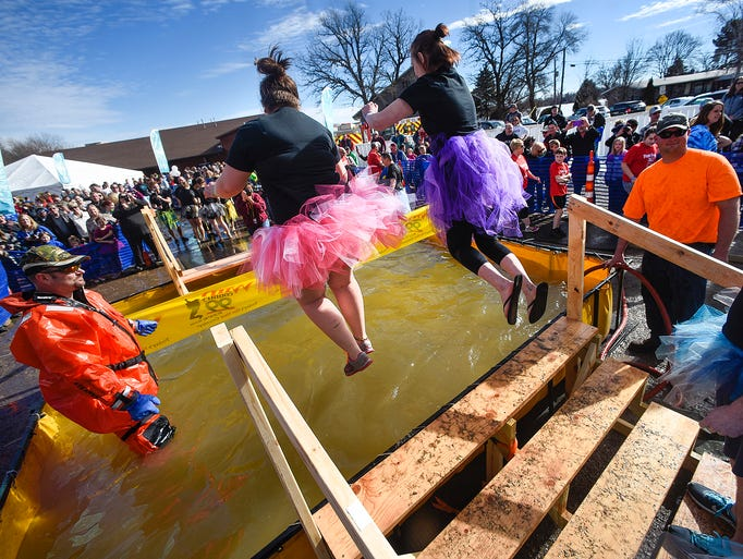 Once in the air, there was no turning back for plungers