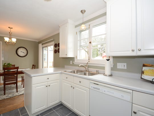 Tidy, white and uncluttered, prospective buyers could
