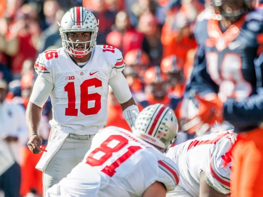 Ohio State quarterback J.T. Barrett may have gotten too late of a start to make the All-Big Ten team at quarterback this season.
