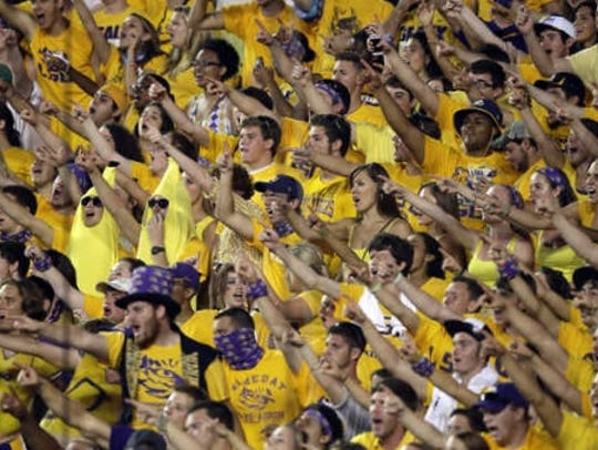 LSU is known for having rabid fans pack Death Valley