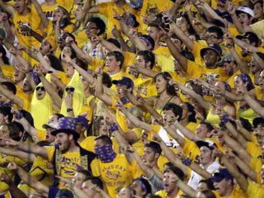 LSU is known for having rabid fans pack Death Valley for home games.
