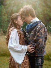 """Bainbridge Performing Arts first-timers Keara Dooley and Gavin Michaels play the star-crossed lovers in the """"Bard at Bloedel"""" production of Shakespeare's """"Romeo and Juliet."""""""