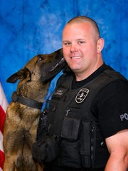 Photo of K-9 Officer Wes Zygmont and K-9 Mick