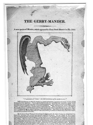 The Gerry-Mander map.