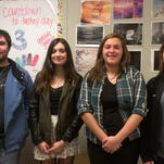 Milford High School students who won high individual honors in this year's national WordWright Challenge are, from left: Ian Smith-Frenkiel, Phoebe Parker, Amelia Pittman and Jennifer Brewer. Andy Hall is not pictured.