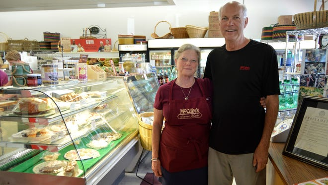Rebecca and Richard Mais, owners of McCabe's Gourmet Market in Bethany Beach.