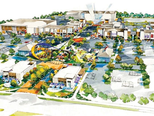 Fisher's newest proposed entertainment and dining center called The Yard.