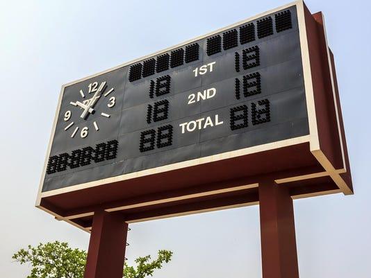 SPORTS scoreboard