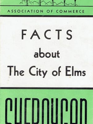 A brochure from 1948 advertising the city of Sheboygan, named the City of Elms.