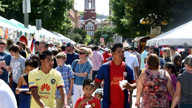 Scenes from the 2015 HoLa Festival at Market Square in downtown Knoxville. (MICHAEL PATRICK/NEWS SENTINEL)
