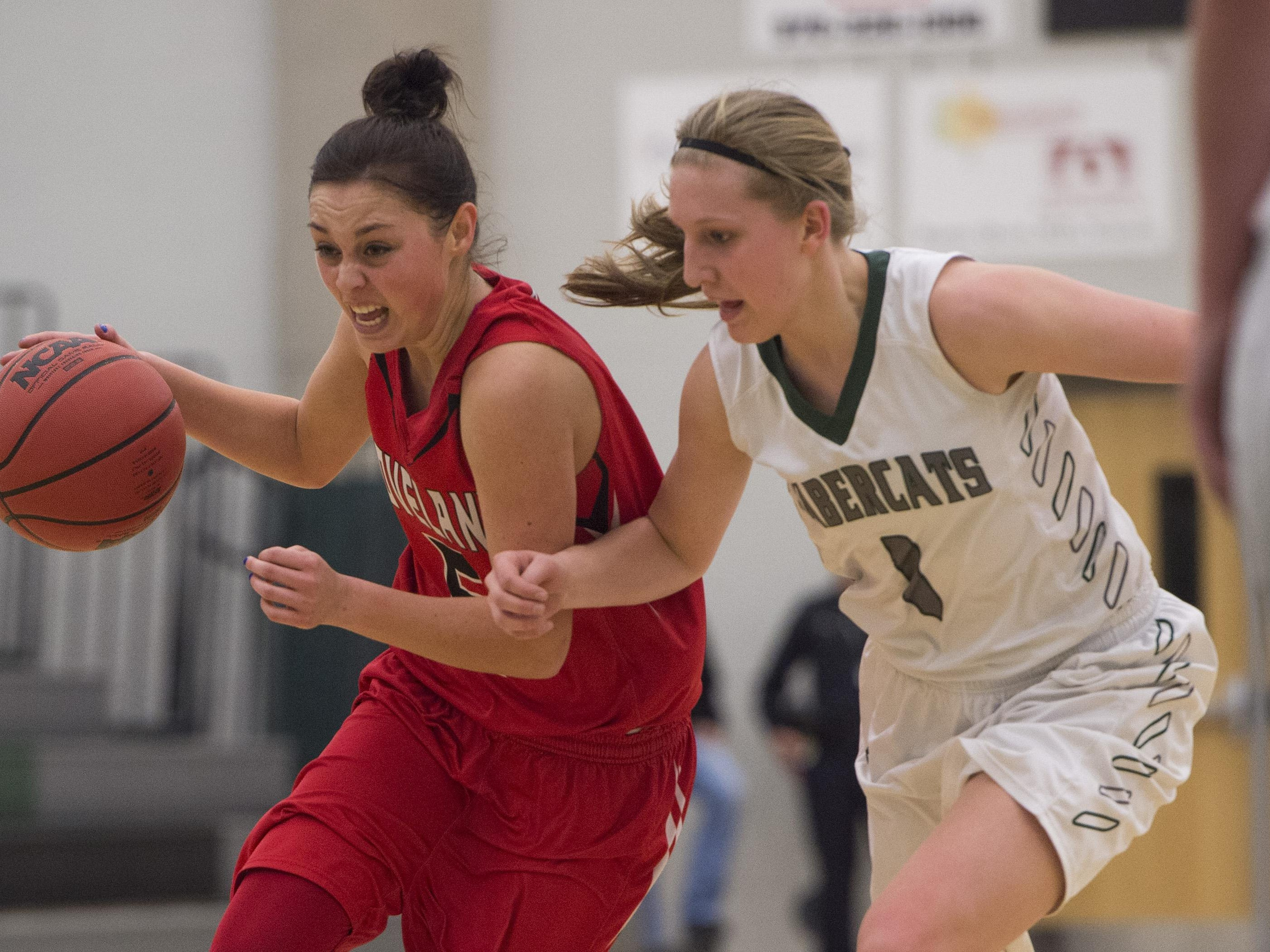 Loveland's Tatum Rembao, left, and Fossil Ridge's Sami Steffeck are both on the Coloradoan's All-Area girls basketball team.