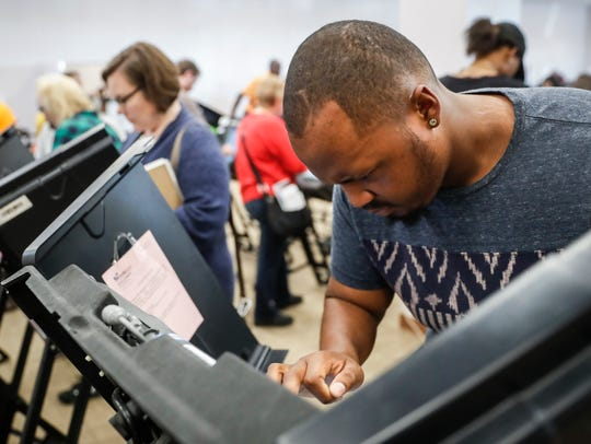 Elijah Ransom of Columbus, Ohio, voted early in the