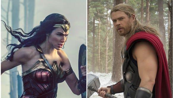 Gal Gadot and Chris Hemsworth had superhero fans in