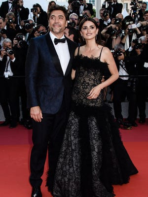 """Javier Bardem and Penélope Cruz arrive for the screening of """"Everybody Knows"""" on the opening night of Cannes Film Festival."""